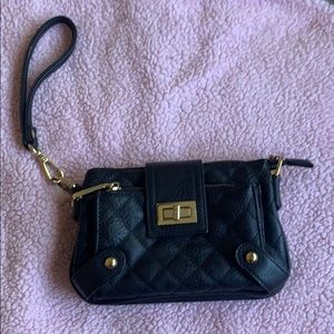 Black clutch with lots of compartments